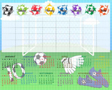 Digital School Timetable/ Organizer- Digital Clip Art  (155)