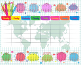 Digital School Timetable/ Organizer- Digital Clip Art Graphics(154)