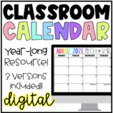 Digital School Year-Long Classroom Calendar | Google Slide