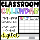Digital School Year-Long Classroom Calendar | Google Slides | Distance Learning