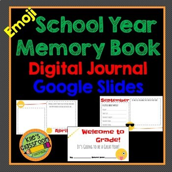 End Of The Year Memory Book Google Drive Worksheets & Teaching