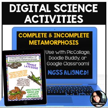 Digital Science Activities Complete and Incomplete Metamorphosis