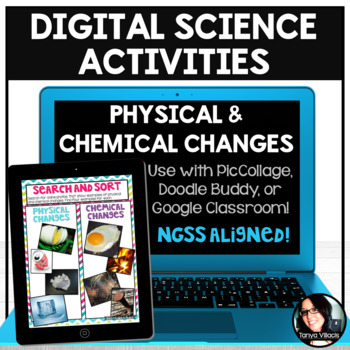 Digital Science Activities Physical and Chemical Changes Digital Resources