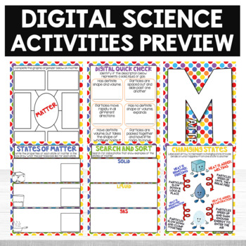 Digital Science Activities States of Matter Digital Resources Pic Collage