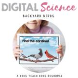Digital Science Center - Backyard Birds - Science Boom Cards
