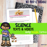 Digital Science Comprehension Activities for Distance Learning