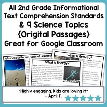 Digital Science Reading Comprehension Bundle on Google Slides