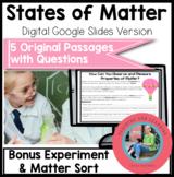 Matter on Google Slides Paperless Digital Science Reading