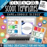 Digital Scoot for NOVELS Creation Kit for Google Slides:  FOR ANY NOVEL