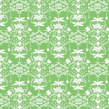 Digital Paper - Garden Damask + DIY Overlay