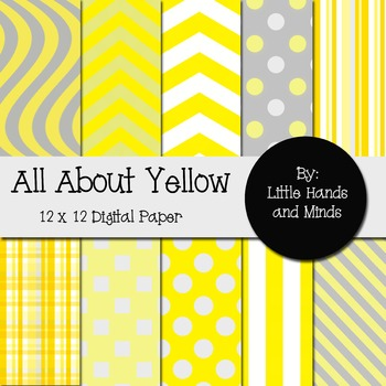 Digital Scrapbook Paper - All About Yellow