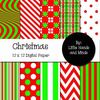 Digital Scrapbook Paper - Christmas