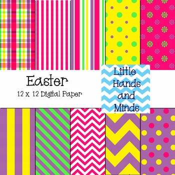 Digital Scrapbook Paper Easter By Little Hands And Minds Tpt