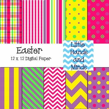 Digital Scrapbook Paper - Easter