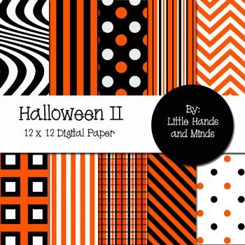 Digital Scrapbook Paper - Halloween II