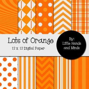 Digital Scrapbook Paper - Lots of Orange