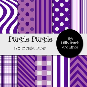 Digital Scrapbook Paper - Purple Purple