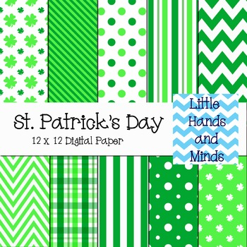 Digital Scrapbook Paper - St. Patrick's Day