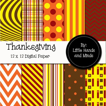 Digital Scrapbook Paper - Thanksgiving
