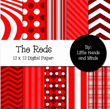 Digital Scrapbook Paper - The Reds