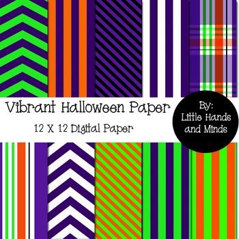 Digital Scrapbook Paper - Vibrant Halloween