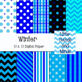 Digital Scrapbook Paper - Winter