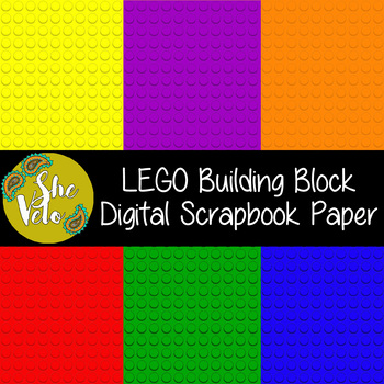 Digital Scrapbook Paper In Lego Style Background 12 X 12 By Shevelo
