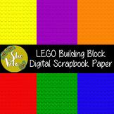 "Digital Scrapbook Paper in Lego Style Background - 12"" x 12"""