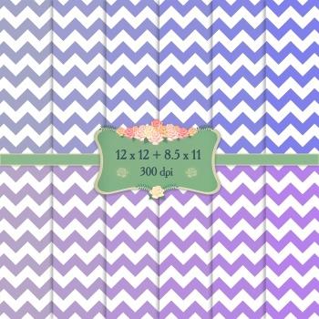 Digital Scrapbooking Paper 12x12 + 8.5x11 Inch Stripe Pattern Set Dot Scrapbook