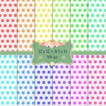 Digital Scrapbooking Paper A4 Party Celebration Layout Event Art Set Gingham Dot