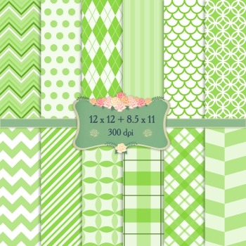 Digital Scrapbooking Paper Abstract Geometric Scrapbook Su