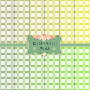 Digital Scrapbooking Paper Card Premade Page Spotted A4 Surprise Graphics Circle