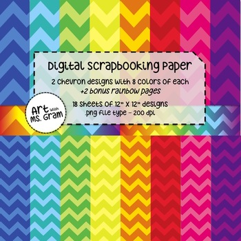Digital Scrapbooking Paper : Chevron Design (Freebie)