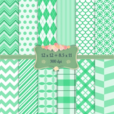 Digital Scrapbooking Paper Collag Graphics Pattern Piecing 12 X 12 8 5 X 11 Dot