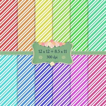 Digital Scrapbooking Paper Geometric Pattern Parallel Prin