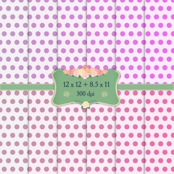 Digital Scrapbooking Paper Layout 12x12 + 8.5x11 Inch Texture Digital Dot Card