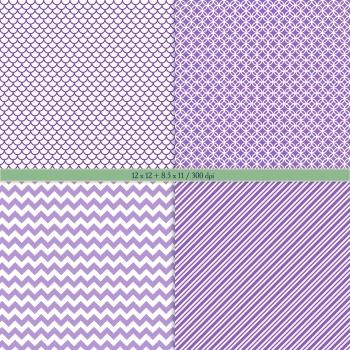 Digital Scrapbooking Paper Pack Decoration Vintage Stripe Cover Party Set Circle