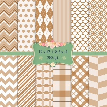 Digital Scrapbooking Paper Repetition Striped Gingham Template Greeting Album A4