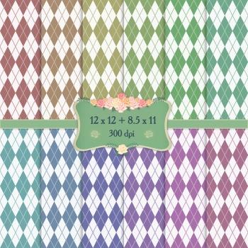 Digital Scrapbooking Paper Sheet Printable Zigzag Scrap Bo