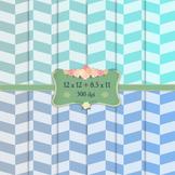 Digital Scrapbooking Paper Single Kit Fun Checker Zigzag Holiday Party Abstract