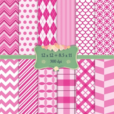Digital Scrapbooking Paper Single Retro Seamless Digital S