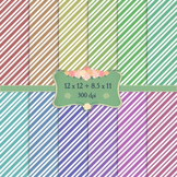 Digital Scrapbooking Paper Zigzag Birthday Graphics Page T