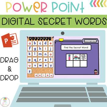 Digital Secret Words Fry Sight Words FREEBIE