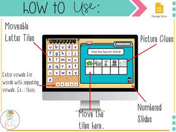 Digital Secret Words Fry 100 Sight Words Google Classroom