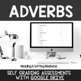 Digital Self Grading Adverbs Assessments for Google Drive