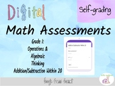 Digital, Self-Grading Assessment for Addition/Subtraction within 20