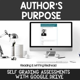 Digital Self Grading Author's Purpose Assessments for Google Drive