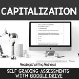 Digital Self Grading Capitalization Assessments for Google Drive