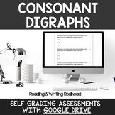 Digital Self Grading Consonant Digraphs Assessments for Google Drive