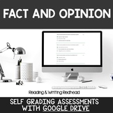 Digital Self Grading Fact and Opinion Assessments for Google Drive